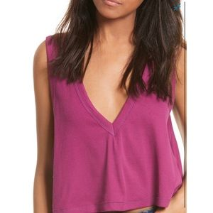 NWT Free People Baring It All Tank, S